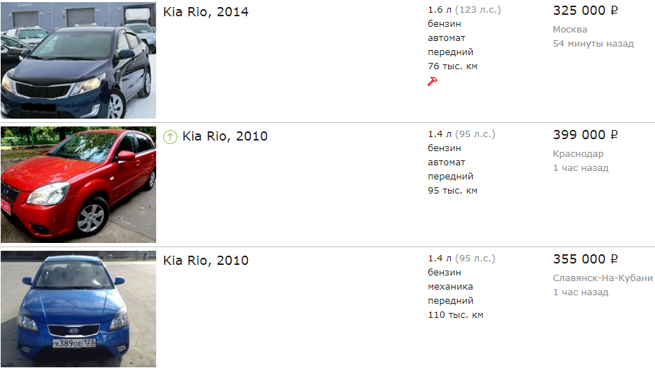 Kia Rio do 400