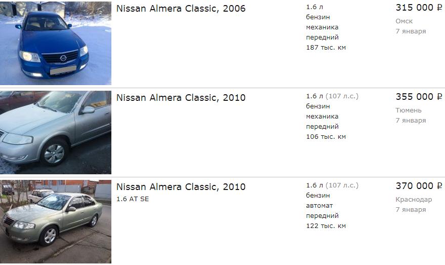 Nissan Almera Classic do 400