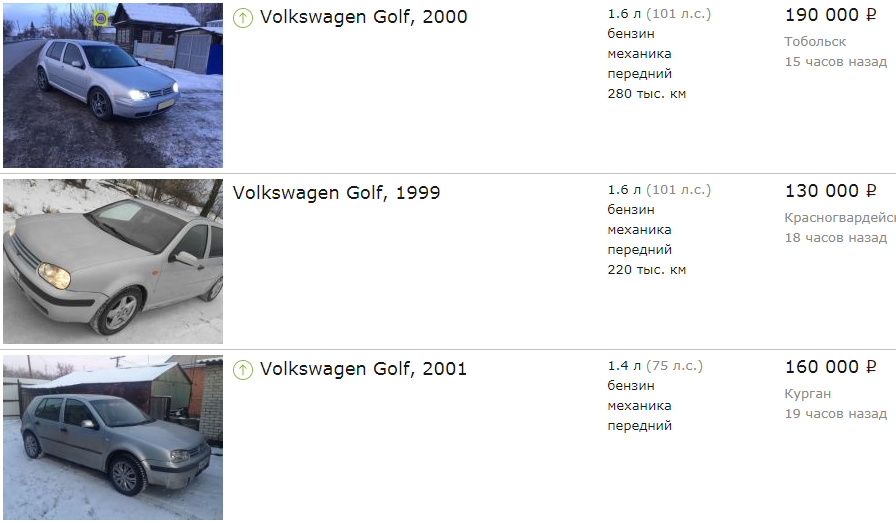 Volkswagen Golf do 200